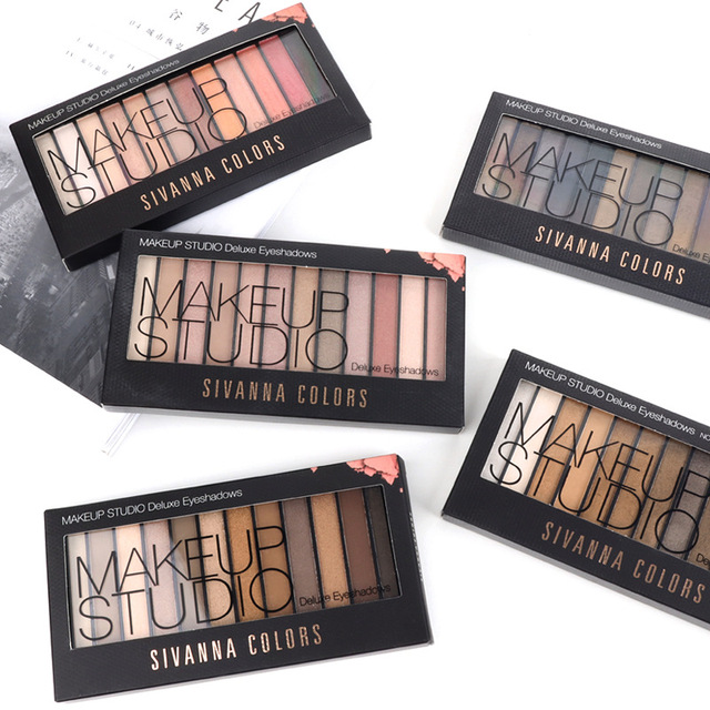 0b7059ff41 1 Set/12 colors Eyeshadow Plate 4 Colors Makeup Eyeshadow Earth Color Pink  By Thailand Brand Sivanna