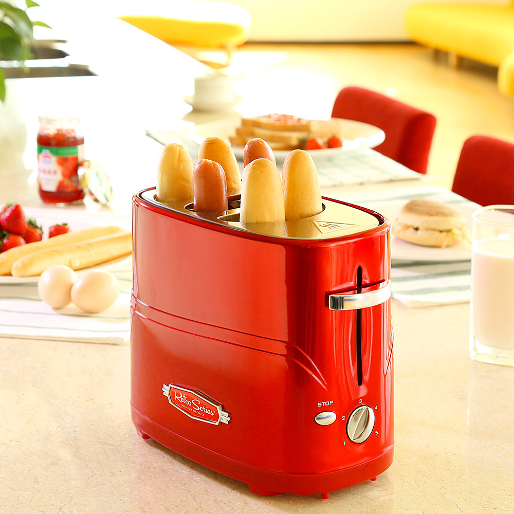 Us 39 0 38 Off Removable Pop Up Hot Dog Toaster Bread Maker With Tong Home Mini Breakfast Automatic Sausage Machine Hot Dog Machine In Bread Makers