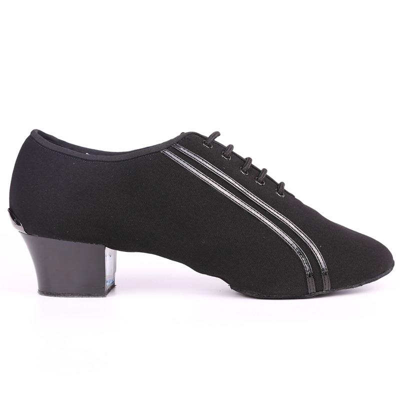 Men Latin Dance shoes BD467 Canvas Patent Split Sole Dancing Shoes Ballroom Practice Competition Dance shoes