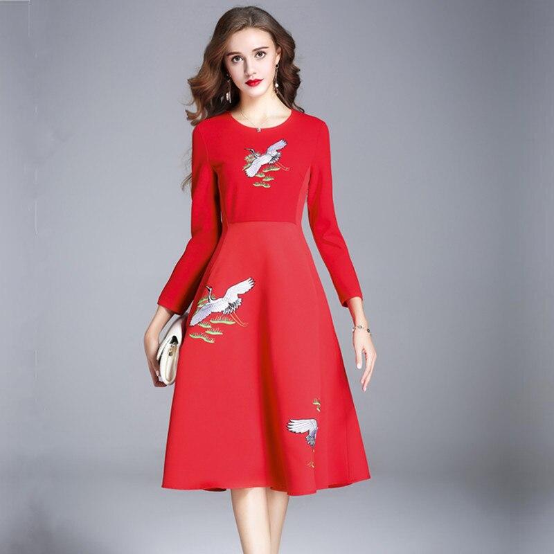 e818b9b6c081 Autunno Vestito Inverno Signora Abito 2019 Donna Vestido Di Rosso Vestiti  Della Abbigliamento Breve Fc17wdr55 Donne Borgogna Dell ufficio Elegante  pt0FgF