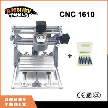 Calidad CNC 1610 + 500 mw-5.5 w ER11 GRBL DIY mini CNC1610 máquina de grabado láser, 3 Ejes fresadora de pcb, Talla de madera Del Router