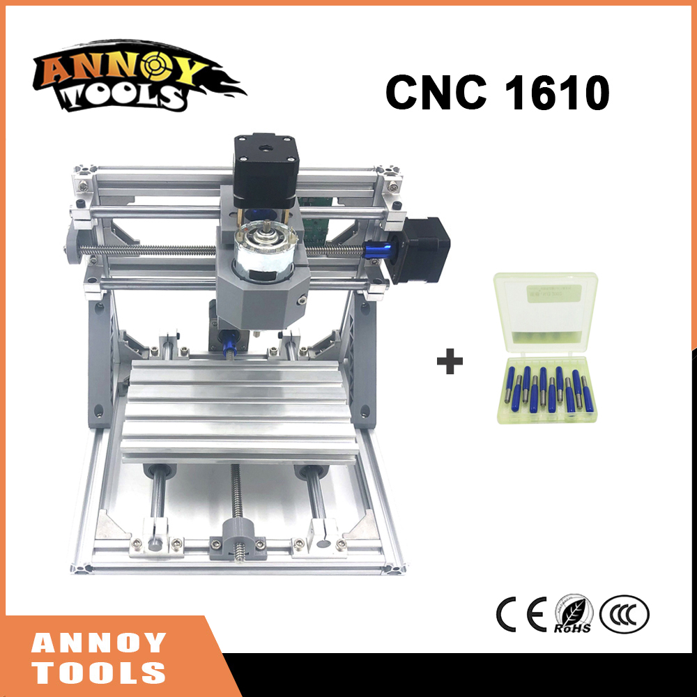 Quality CNC 1610+500mw-5.5w ER11 GRBL DIY mini CNC1610 laser engraving machine, 3 Axis pcb Milling machine, Wood Carving Router 1610 mini cnc machine working area 16x10x3cm 3 axis pcb milling machine wood router cnc router for engraving machine