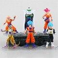 New Hot 6pcs/Set 12cm Dragonball Dragon Ball Z Resurrection F Super Saiyan Son Goku Kakarotto Frieza Vegeta Action Figure Toys