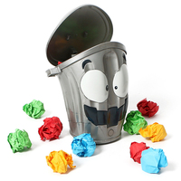 New Strange Creative Crazy Trash Can Run Zombie Trash Can Throw Interactive Toys Throw Paper Lost Music Party Children Fun Toys
