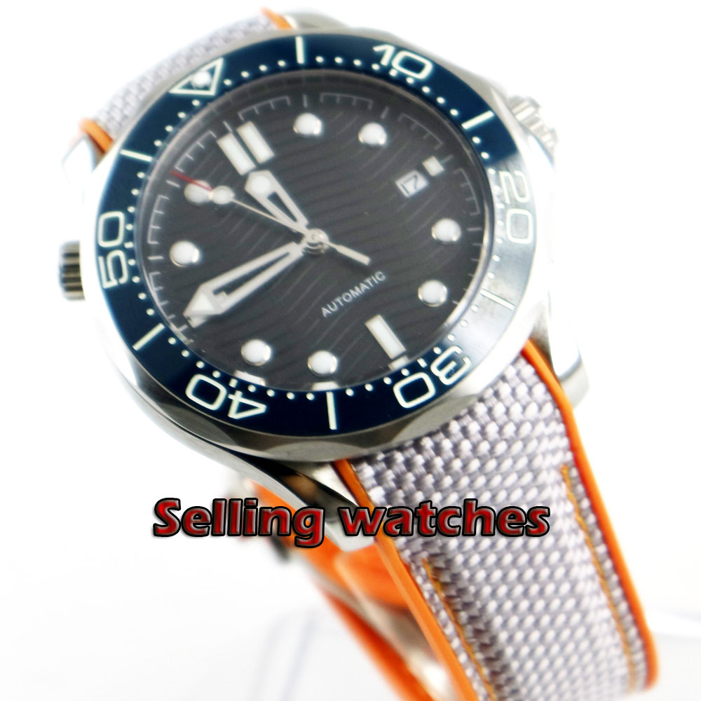 Luxury 41mm men's watch navy black dial super luminous saphire glass blue Ceramic Bezel Automatic movement wrist watch men