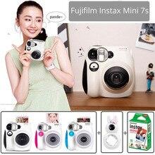 100% แท้ Fujifilm Instax Mini 7 วินาทีกล้องถ่ายภาพชุด 10 แผ่น Fuji Instax Mini ฟิล์มสีขาว & กระต่าย Selfie เลนส์