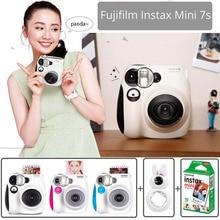 % 100% Otantik Fujifilm Instax Mini 7 s Anında fotoğraf kamerası Seti 10 Levhalar Fuji Instax Mini Beyaz Film ve Tavşan selfie Lens