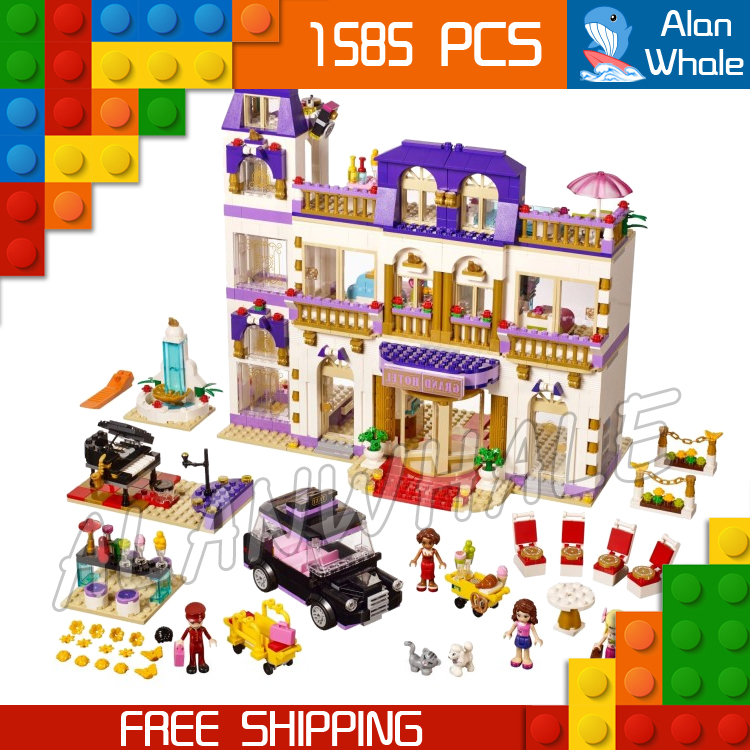 1585pcs Friends Series Heartlake Grand Hotel 10547 Model Building Bricks Blocks Emma Stephanie Toys girls Compatible With Lego купить в Москве 2019