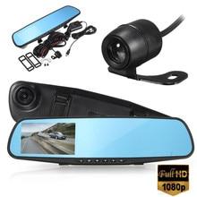 4 Inch Car DVR Camera Review Mirror FHD 1080P Video Recorder Night Vision Dash Cam Parking Monitor Auto Registrar Dual Lens DVR