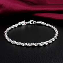 High Quality Classic Twisted Charming Silver Plated Woman Bracelets Jewelry Accessories BL-0299