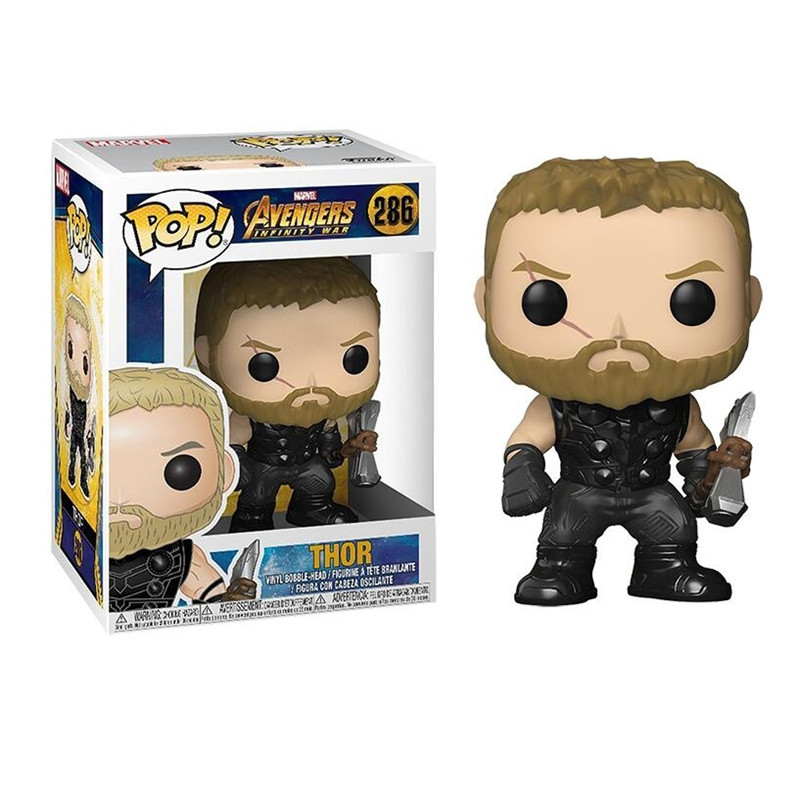 NEW 10cm Avengers 3 Infinity War Action Figure Big Bobble Head POP Figures Model For Children Gift THANOS IRON SPIDER HULKBUSTER