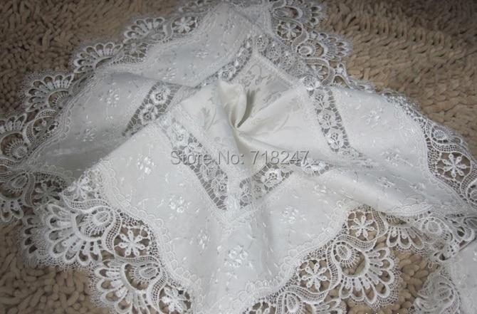 Vezon домашний текстиль Лидер продаж элегантные кружевные скатерти павлин жаккардовые свадьба столовое белье ткань обложки украшения полоте...