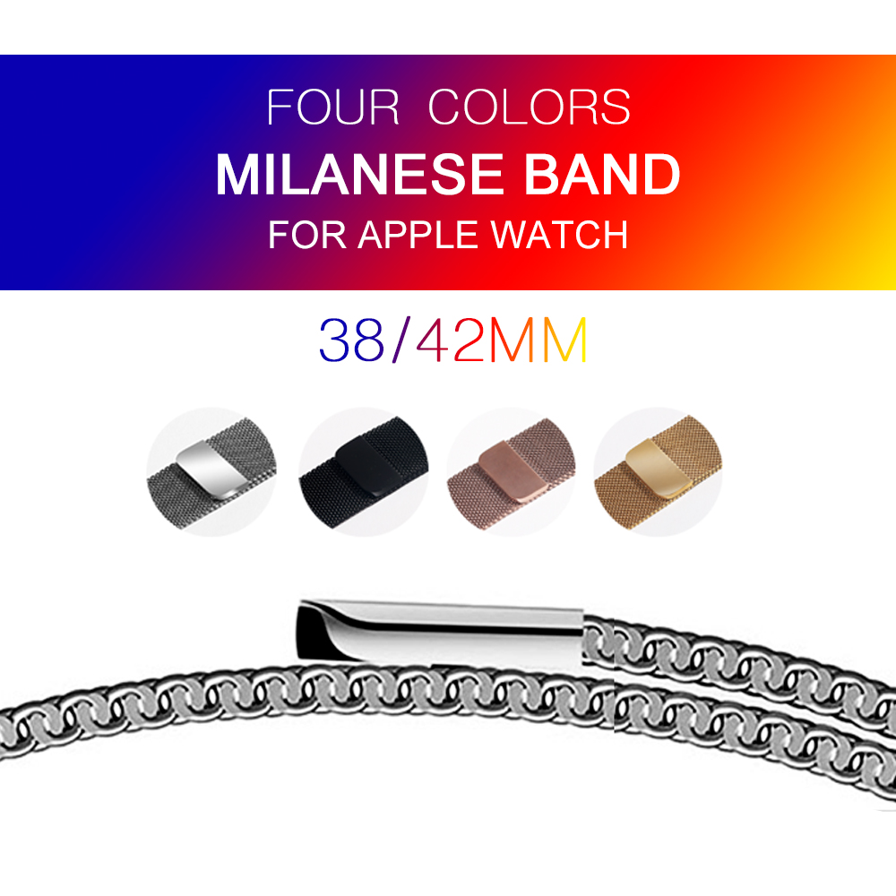 цены на Milanese Loop For Apple Watch band strap 42mm/38mm Stainless Steel Link Bracelet watchband magnetic buckle for iwatch 3/2/1 в интернет-магазинах