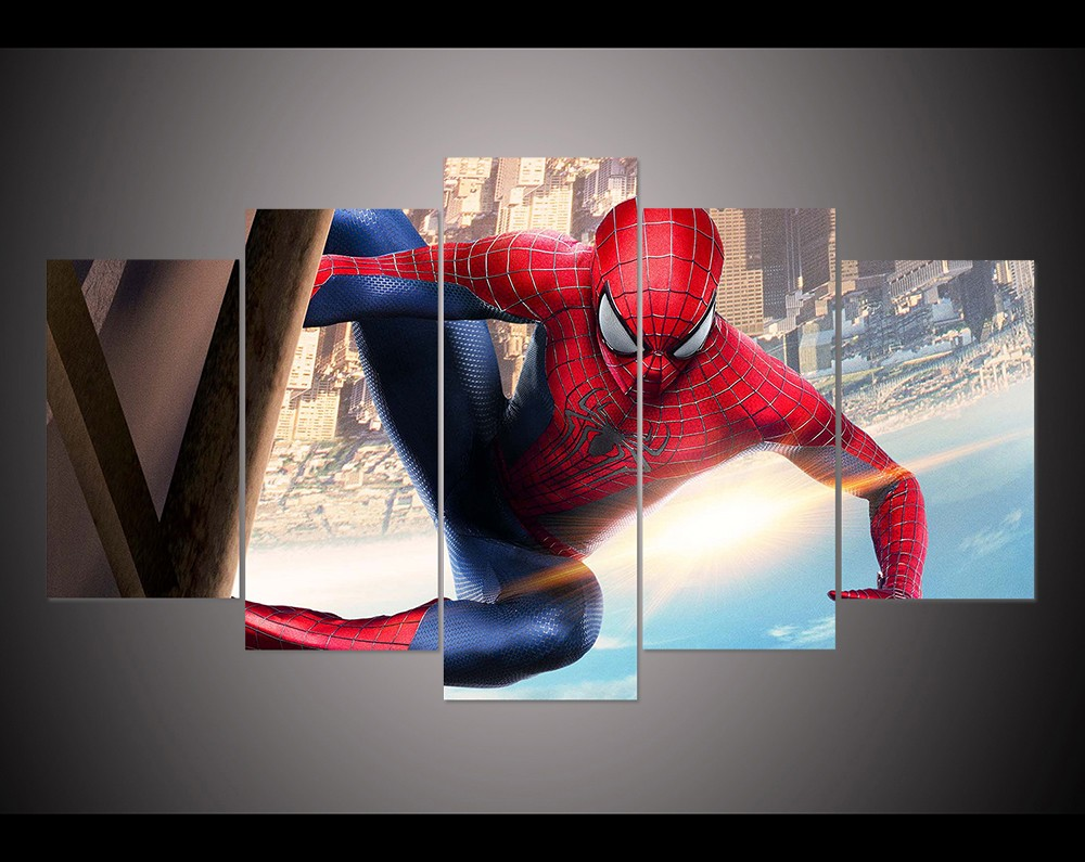 Home Decor Spider Man Wall Art Picture For Living Room Kids Room Decor Printed Oil Painting