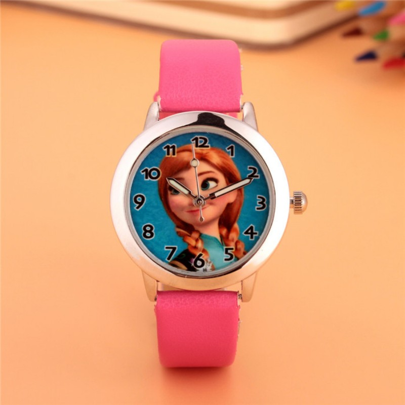 2019 New Fashion Anna Princess Design Kids Watch Quartz Jelly Clock Girls Students Gift Wristwatches Relogio Kol Saati Clock