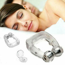 Tray Magnetic Stop Snoring Guard Sleeping Snore Anti Care Nose Clip Apnea Device