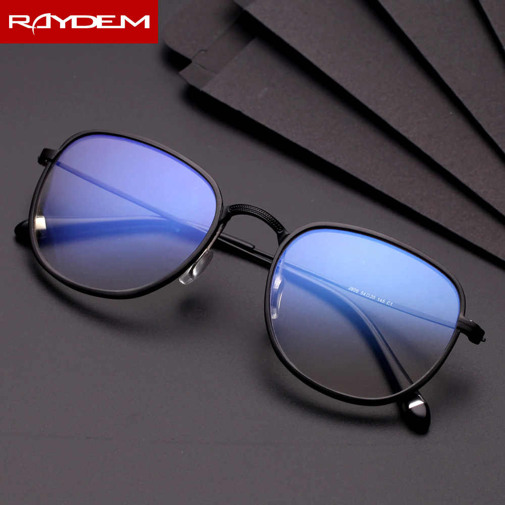 2018 New Finished Optical Glasses anti blue light Men Al-Mg alloy frame reading computer phone Myopia glasses shortsighted