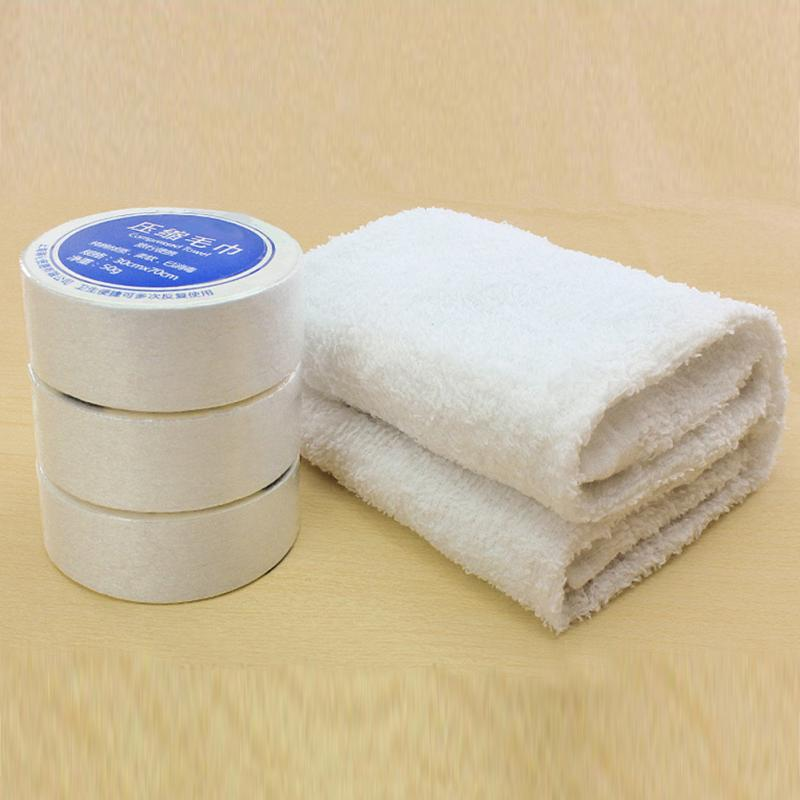 Essential Travel Use Compressed Towels Space Saving Cotton