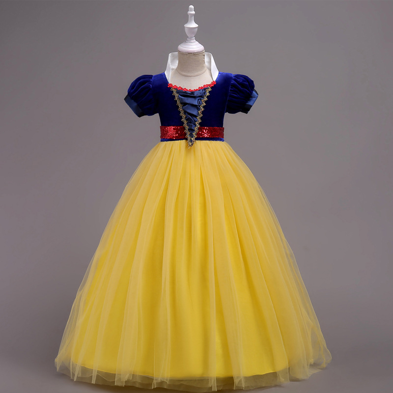 POSH DREAM Snow White Princess Children Girls Cosplay Dress Snow White Children Princess Cosplay Kids Girls Tutu Dress for Party ratchet