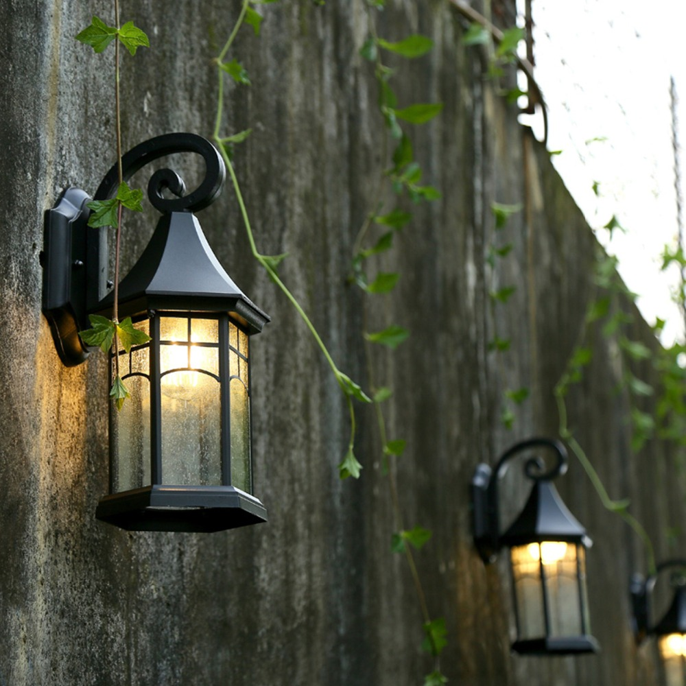 Retro outdoor wall lamp european waterproof outdoor lighting retro outdoor wall lamp european waterproof outdoor lighting creative garden lights american balcony stairs outside wall sconce in outdoor wall lamps from aloadofball Gallery