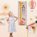 2017 NOVOS do bebê pegada handprint eye chart altura dos desenhos animados adesivos de Altura padrão de impressão do bebê mão do bebê escalas TJJ1