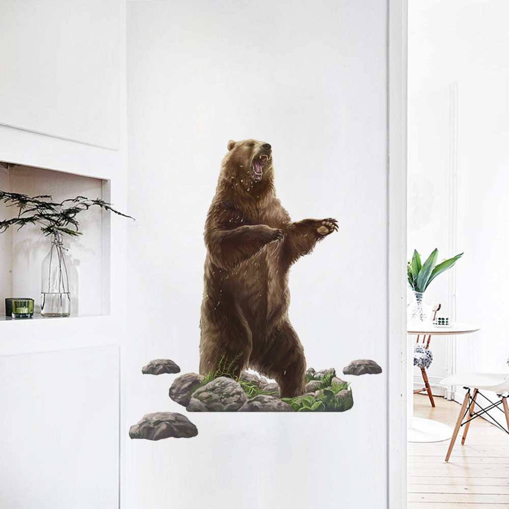 Bear Wall Sticker For Kids Room Stickers Bedroom Living Room Door Stickers Decoration Home Accessories Decor Wall Stickers Aliexpress