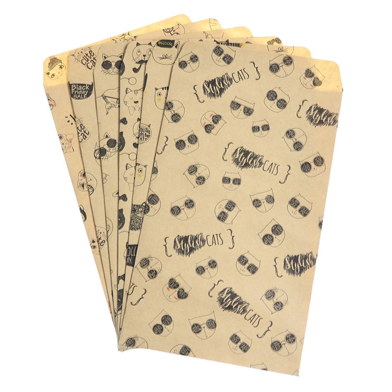 6pcs/Pack Cute Cartoon Chinese Envelope Cool Cat Envelope Children Students Craft Gift Stationery School Office Supplies