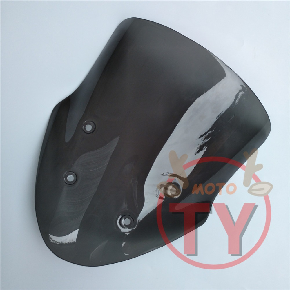 Motorcycle For Suzuki DL650 DL 650 dl Windshield Windscreen Accessories Double Bubble Acrylic Smoke Black Мотоцикл