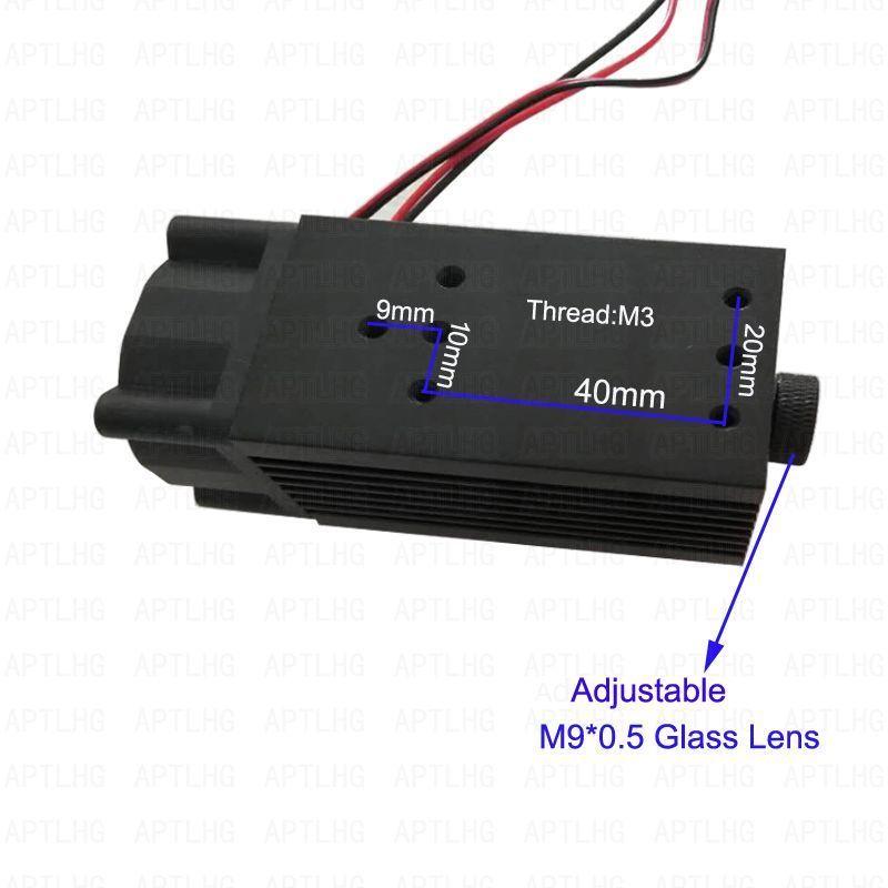 DIY 5.5w 450nm blue laser module , laser engraving machine parts , laser cutting TTL module 5500mw laser tube