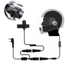 2 PIN Helmet Portable Motorcycle Race Contact Headset Earpiece For Kenwood Baofeng Wallie Talkie Two Way Radio(China)