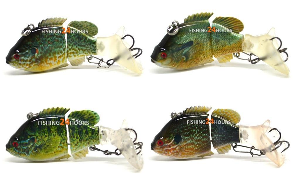 4 pc 8cm bass fishing lure bait swimbait wobbler life like for Bluegill fishing bait
