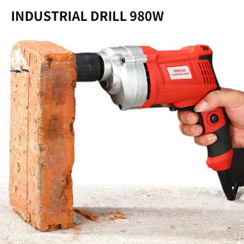 Electric Drill 220V Drilling Machine Electric Drill Hammer Impact Variable Speed Power Tools Woodworking Taladro Electrico