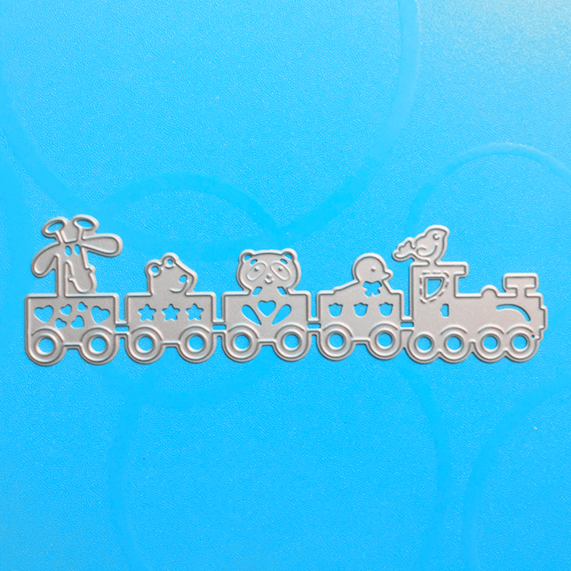 YLCD140 Train Metal Cutting Dies For Scrapbooking Stencils DIY Cards Album Decoration Embossing Folder Die Cutter Tempalte
