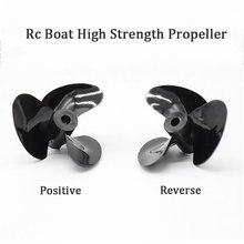Rc лодка высокая скорость 3 Лопасти пропеллеры высокая прочность положительный и реверсивный винт для 3 мм вал Подходит 3 мм Диск Собака Rc лодка