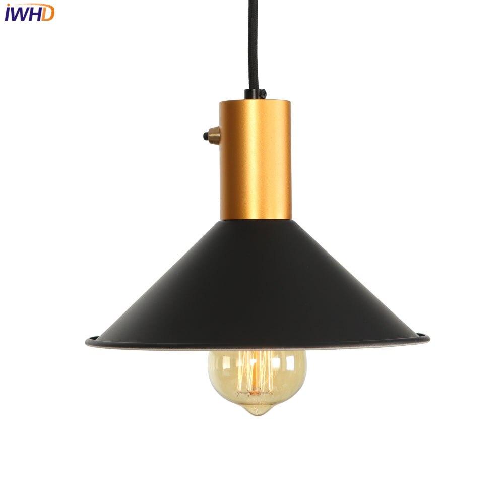 IWHD LED suspension Loft nordique suspension lumières LED Vintage industriel fer rétro luminaires pour la maison éclairage Luminaire Suspendu