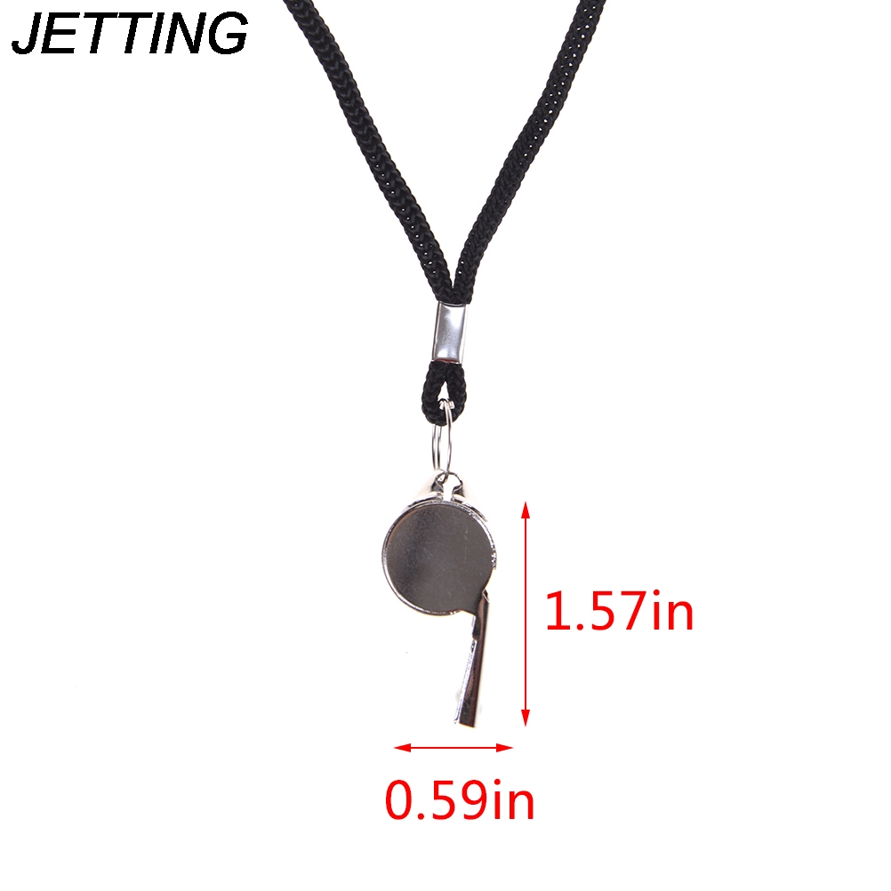 Silver, 5 pcs Sports Referee Stainless Steel Whistles Emergency Coach Whistle with Lanyard Competition,Training