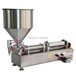 High accuracy 50-500ml Full pneumatic semi-automatic paste filling machine/piston filler/honey sauce cream filler for sale