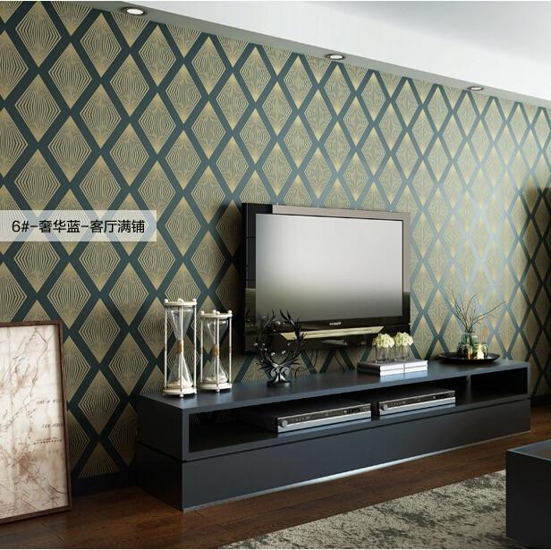 Buy luxury diamond style mosaic wallpaper - Papier peint moderne salon ...
