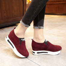 2018 Fashion Women Casual Shoes Suede Leather Platform Shoes Women Sneakers Ladies Trainers Chaussure Femme #XTN