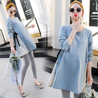 Maternity Shirts Pregnant Women Tops Tees Premama Wear Clothing Pregnancy Clothes Autumn Maternity Long Sleeve Tops H213