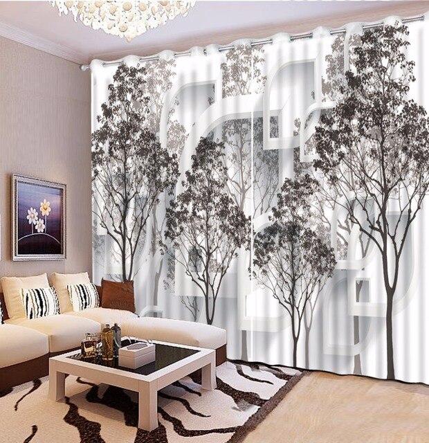 Schwarz und weiß baum Blackout 3D Vorhang wohnzimmer Schlafzimmer ...