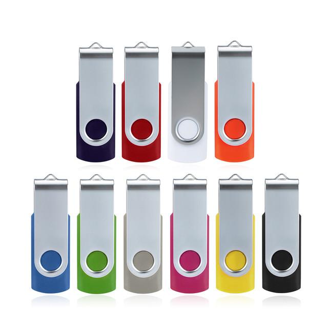 Swivel USB 2.0 OTG Metal Flash Memory Stick Storage Thumb U Disk