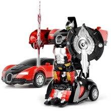 12x6X3 см Классический Преобразования Металла Робот Автомобилей Действие и Игрушки Фигурки Образования Детей Игрушки Подарки для мальчик