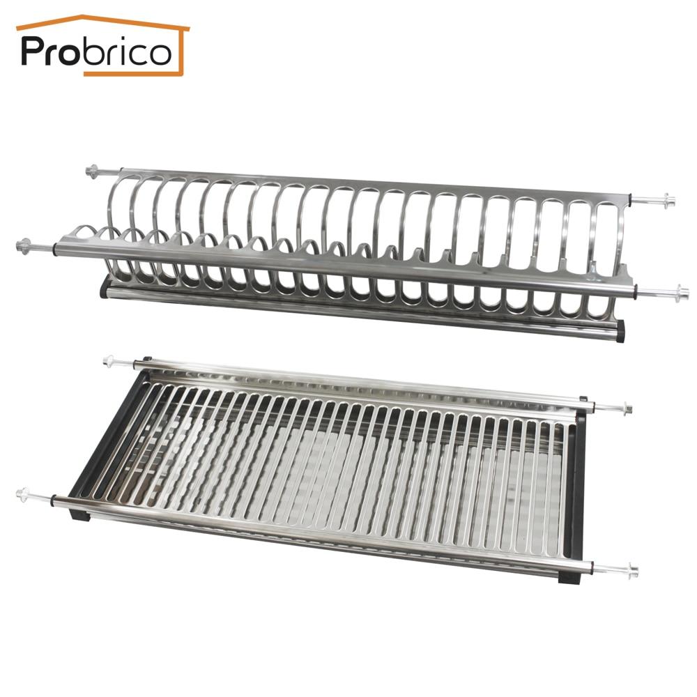 probrico stainless steel dish drying rack for width 565mm 665mm rh aliexpress com Corner Dish Rack Kitchen Dish Racks