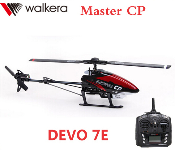 Original Walkera Master CP + DEVO 7E Transmitter Mini 6CH 3D Flybarless RC Helicopter (with battery and charger) RTF walkera master cp flybarless rc helicopter 6ch 6axis gyro