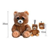 Change Face Feisty Pets Sir Growls A Lot Soft Plush Stuffed Mini Keychain Backpack Set Free