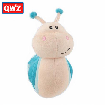 QWZ Cartoon Kawaii Plush Snail Baby Toys 12CM Cute Blue Red Green Stuffed Animal For Children Small Pendant Valentines Day Gift baby toys