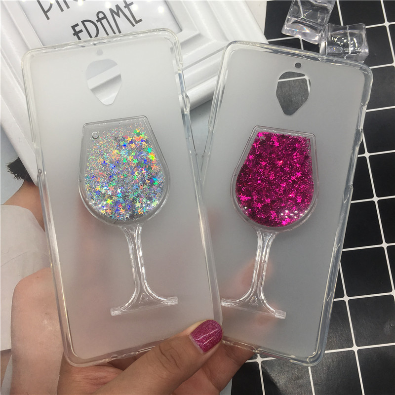 Phone Bags & Cases Responsible Fashion Hot Star Glitter Sequin Liquid Quicksand Red Wine Cup Soft Silicone Case For Oneplus 3 Fitted Cases One Plus Three A3000 3t A3003 Be Novel In Design