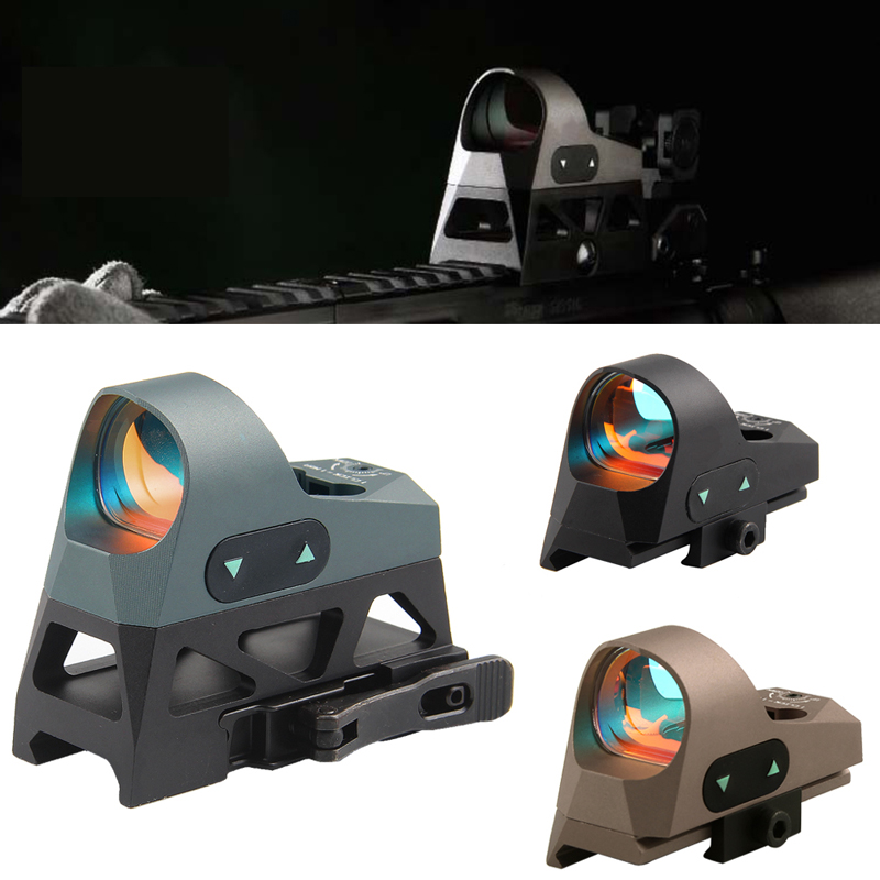 Mini Reflex Sight 3 MOA Dot Reticle Red Dot Sight Scope Picatinny QD Mount for Carbines HT5-0037 greenbase 3 moa mini red dot sight reflex sight 1x25 reticle red dot scope with qd mount hunting scopes for 20mm rail base