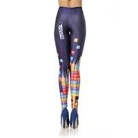 New Custom Legging 3d Digital High Waist Elastic Slim Legins Fashion Tetris Printed Leggins Women Leggings